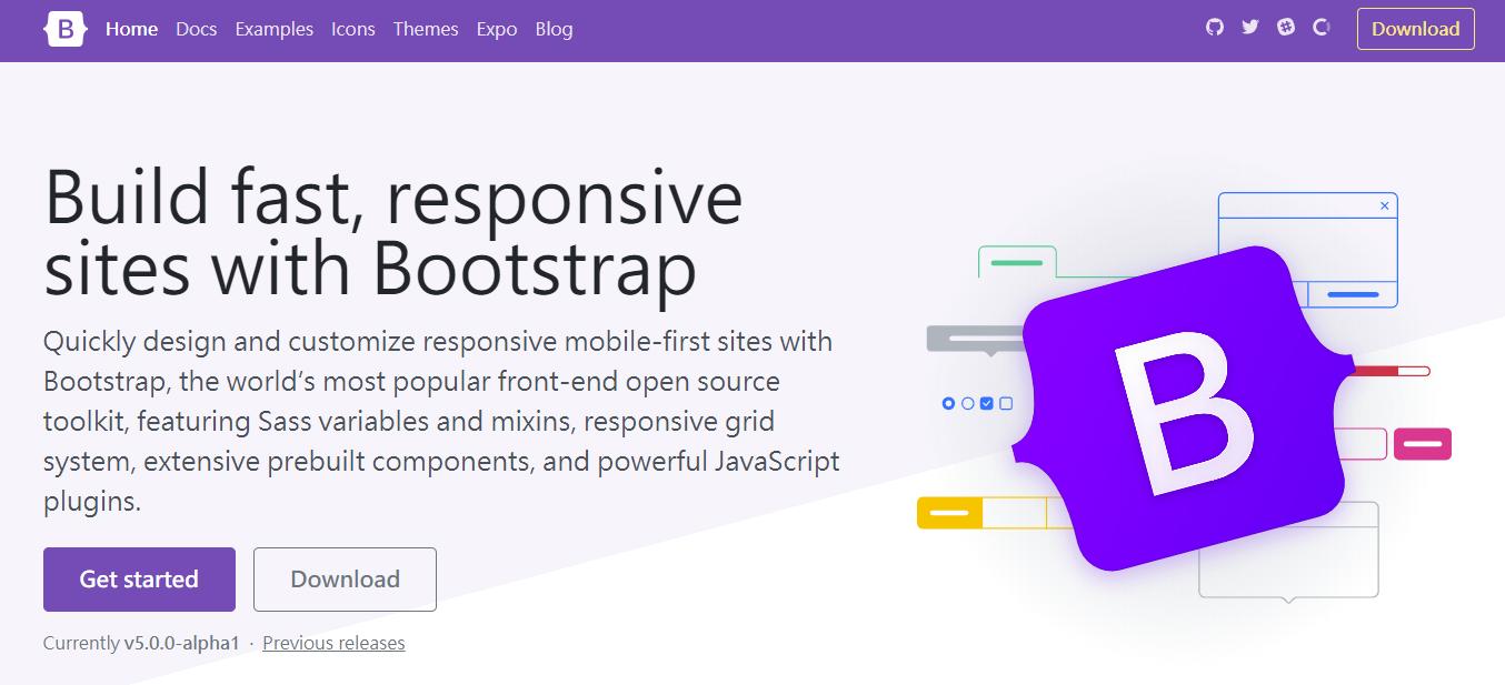Bootstrap 5 alpha1 發布 不支援IE 不依賴jquery